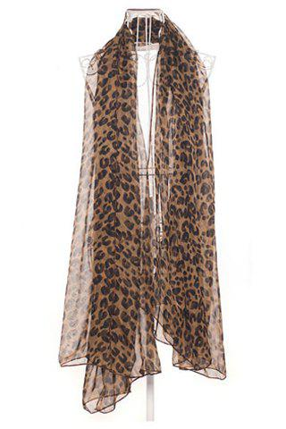 Chic Leopard Print Voile Scarf For Women
