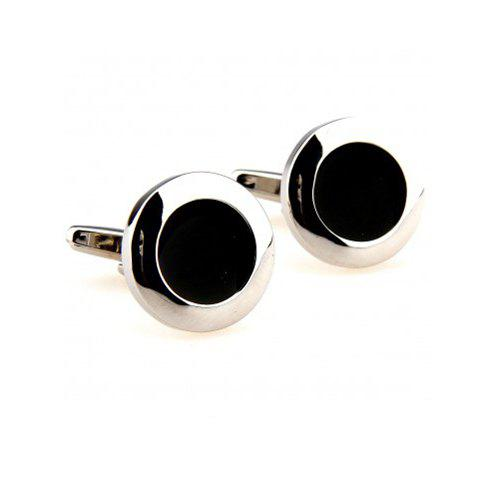 Pair of Chic Round Shape Design Alloy Cufflinks For Men
