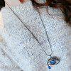 Rhinestone Eye Shape Pendant Sweater Chain - COLORMIX