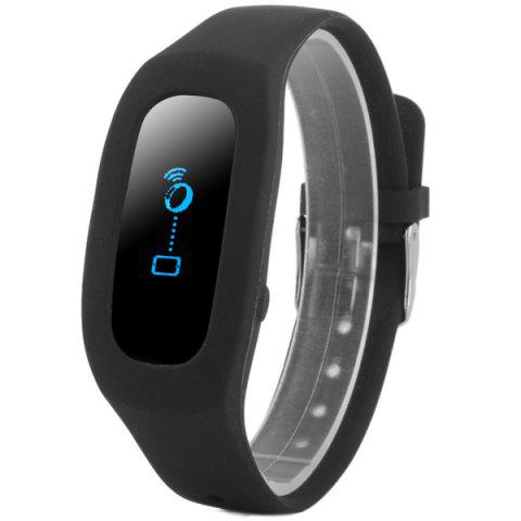 SH04 Smart Bracelet Watch Bluetooth 4.0 Reminding Function Sleep Tracker Pedometer for Sports - BLACK