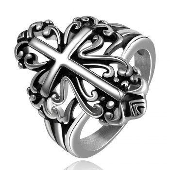 Hollow Out Cross Shape Ring -  US SIZE 8