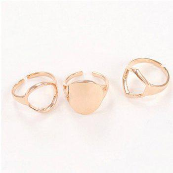 3PCS of Openwork Rings