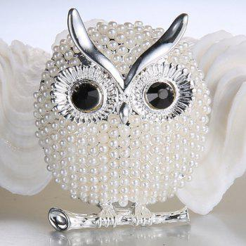 Broche alliage Faux Pearl Owl