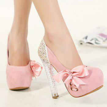 Stunning Crystal Heel and Sequined Design Pumps For Women - 39 39