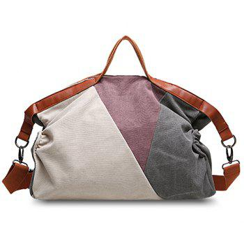 Fashionable Color Block and Canvas Design Tote Bag For Women - OFF-WHITE OFF WHITE