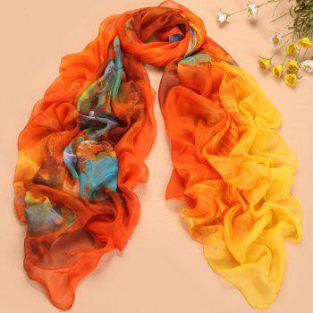 Fashionable Oil Painting Pattern Design Colorful Scarf For Women