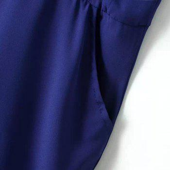 Sexy Blue Halter Backless Jumpsuit For Women - BLUE L