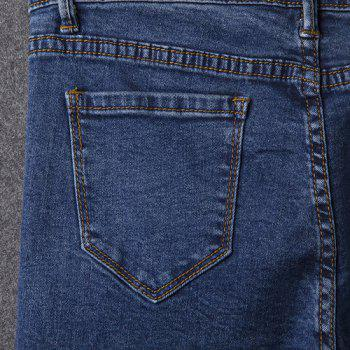 Simple Stretchy Button Fly Jeans For Women - 27 27
