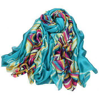 Fashionable Interphase Colored Striped Pattern Scarf For Women