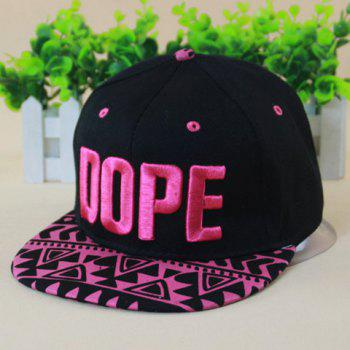 Chic Letters Embroidery Geometric Pattern Brim Women's Baseball Cap - ROSE ROSE