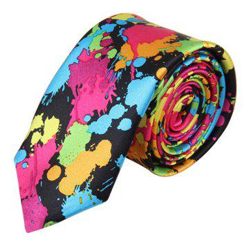 Chic 5 CM Wide Design Random Spray-Painted Pattern Men's Tie - COLORFUL COLORFUL