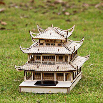 Assembly Yueyang Tower DIY Colored Drawing and Automatic Solar Light Sensation