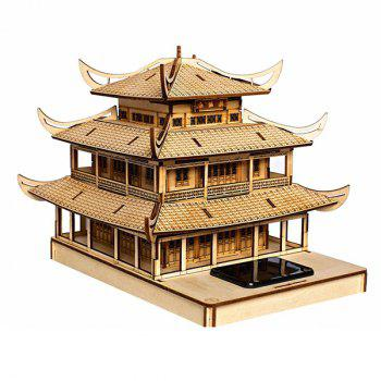 Assembly Yueyang Tower DIY Colored Drawing and Automatic Solar Light Sensation - COPPER COLOR