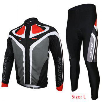 Arsuxeo C02 Cycling Suits Jersey Jacket Pants Set Bike Bicycle Running Long Sleeve Clothes for Male