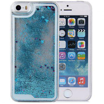Stylish Plastic Transparent Back Cover Case of Hourglass Design for iPhone 5 5S - BLUE BLUE