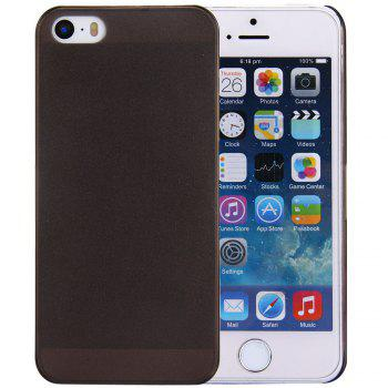 Solid Color Transparent Design Protective Back Cover Case for iPhone SE / 5 / 5S - BLACK BLACK