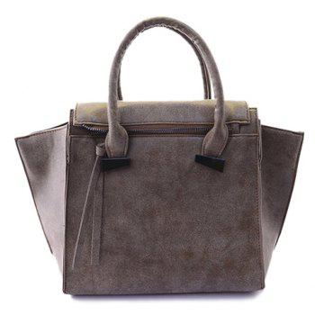 Gorgeous Solid Color and Suede Design Tote Bag For Women