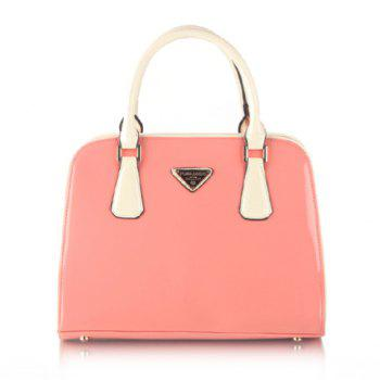 Gorgeous Patent Leather and Candy Color Design Tote Bag For Women