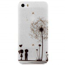 Dandelion Lover Design Protective Back Cover Case with Transparent Frame for iPhone 5 / 5S / SE