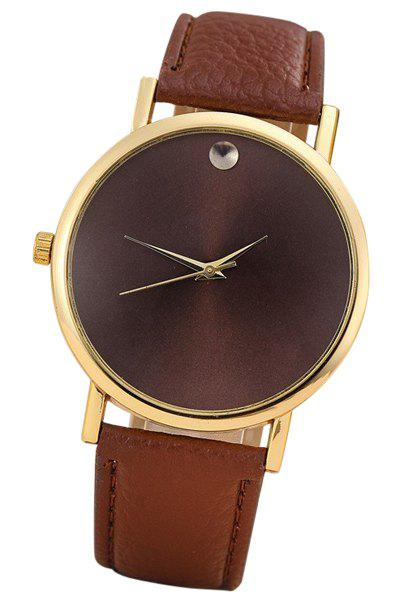 Vintage PU Watch For Women - COFFEE