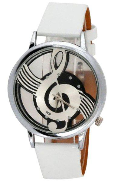 Hot Sale Musical Note Pattern Watch For Women - WHITE