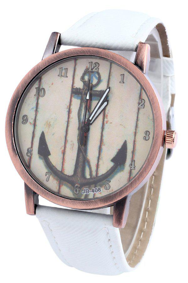 Retro Style Anchor Pattern Watch For Women - WHITE