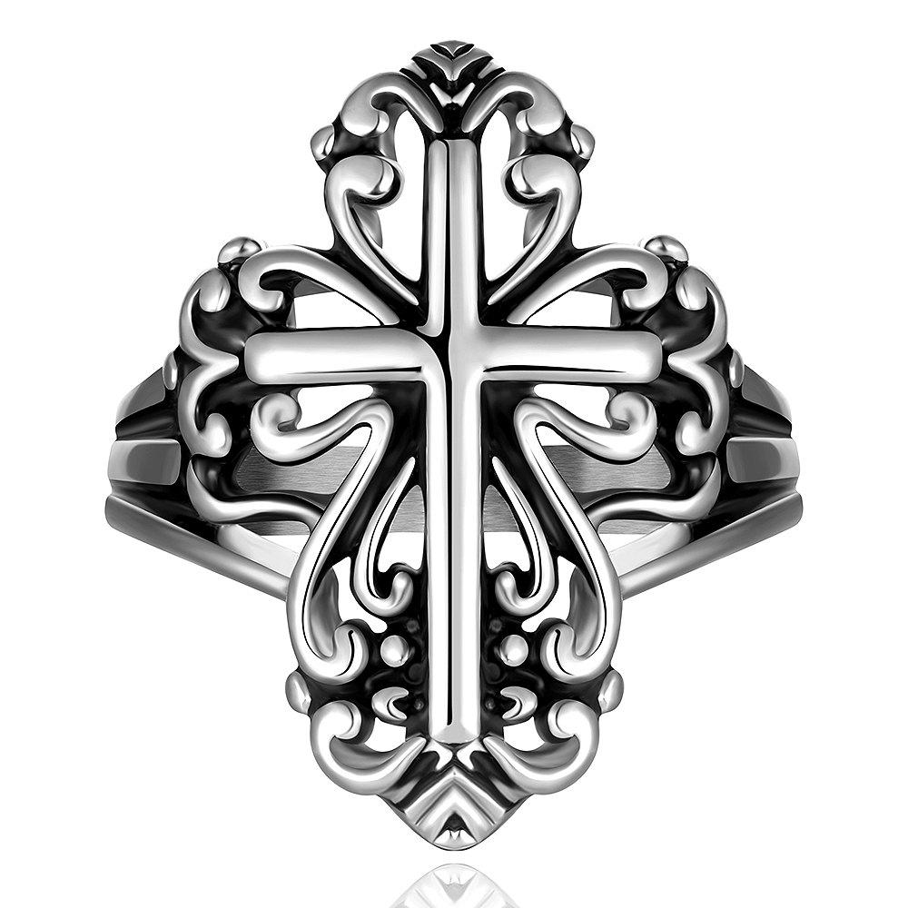 Chic Stylish Cross Pattern Ring For Men - US SIZE 8