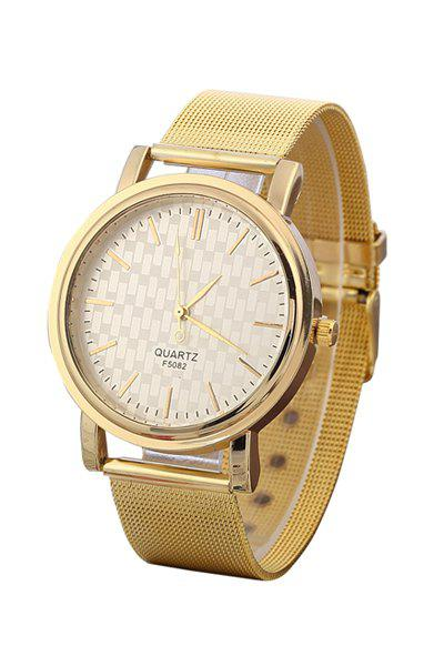 Chic Golden Mesh Watch For Women - GOLDEN