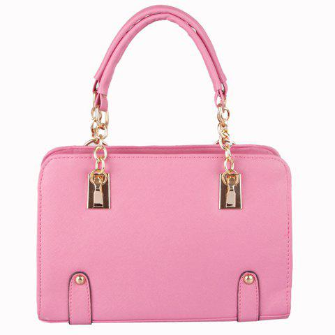 Sweet Candy Color and Chain Design Tote Bag For Women - DEEP PINK