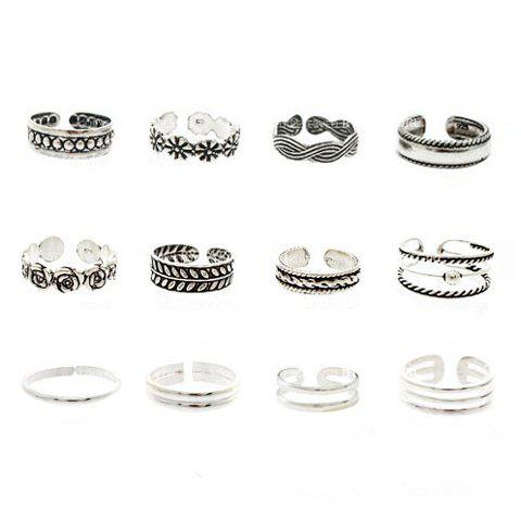 ONE PIECE Print Decorated Cuff Ring - RANDOM COLOR PATTERN ONE SIZE