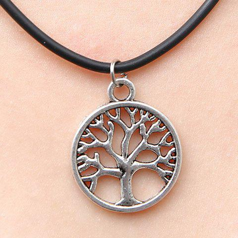 Stylish Chic Women's Tree Pendant Necklace - SILVER
