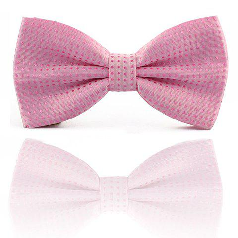 Stylish Polka Dot Print Bow Tie For Men - PINK