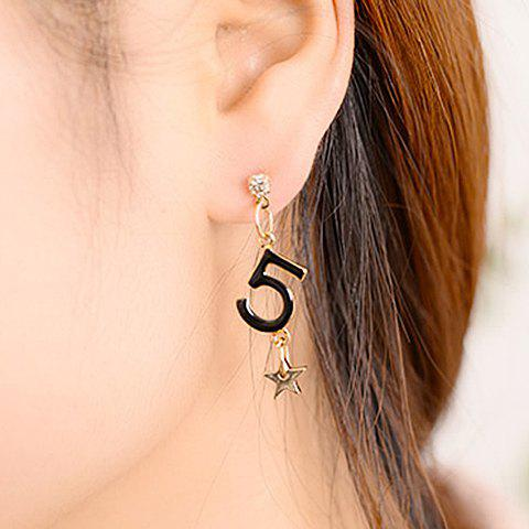 Pair of Stylish Women's Five Star Pendant Earrings