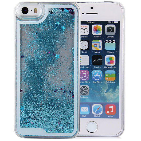 Stylish Plastic Transparent Back Cover Case of Hourglass Design for iPhone 5 5S - BLUE