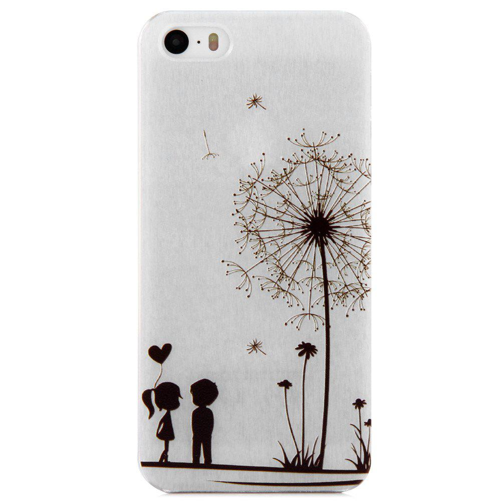 Dandelion Lover Design Protective Back Cover Case with Transparent Frame for iPhone 5 / 5S / SE - WHITE/BLACK