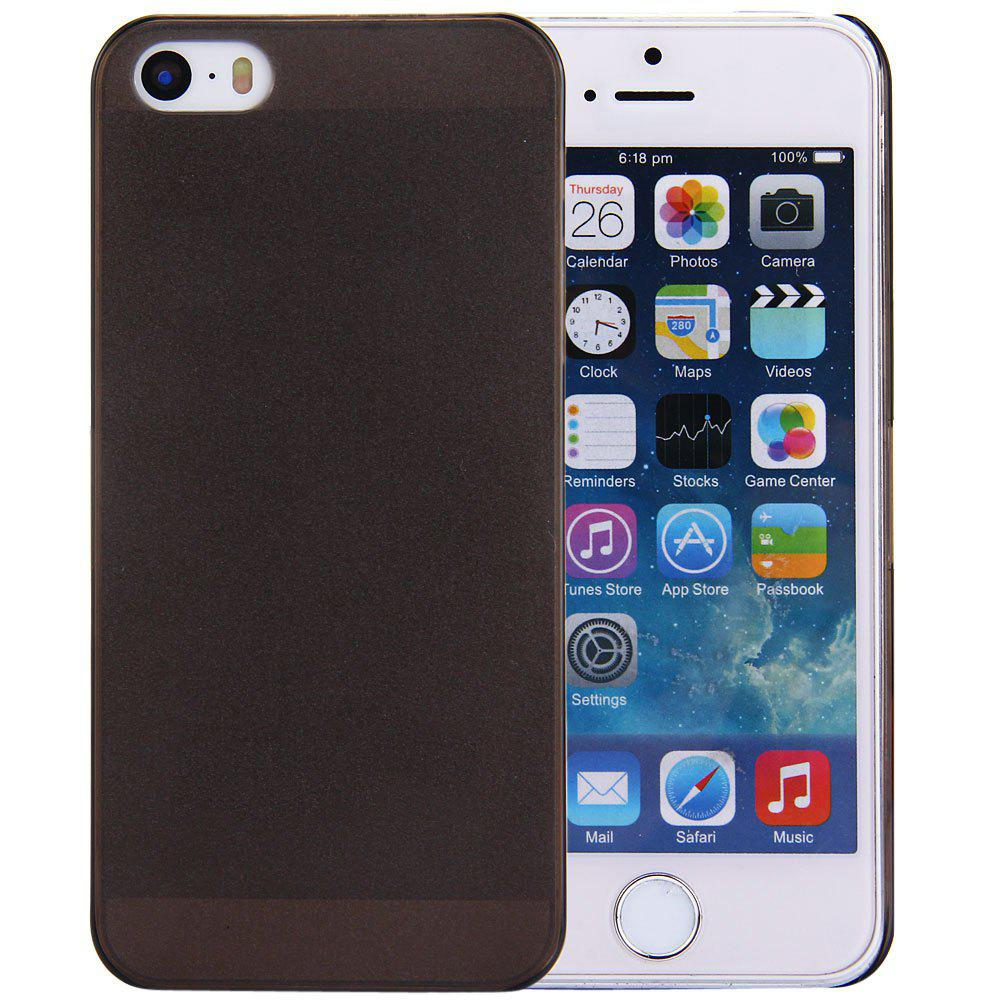 Solid Color Transparent Design Protective Back Cover Case for iPhone SE / 5 / 5S
