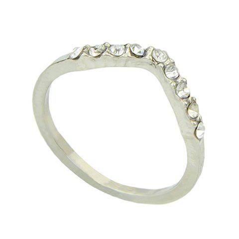 Delicate Chic Women's Solid Color Rhinestone Ring