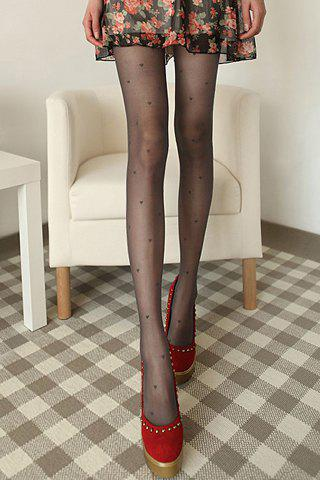 Chic Small Heart Pattern Women's Ultrathin Pantyhose
