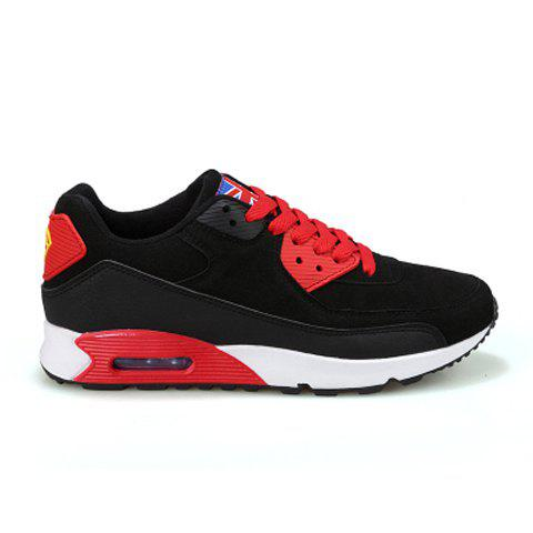 Fashionable Color Block and Flag Design Casual Shoes For Men - BLACK 43