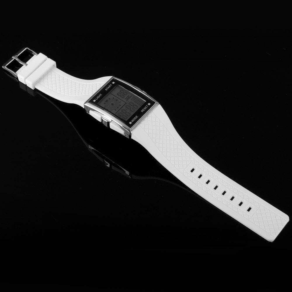 LED Watch Dual Shows Day Date Alarm Stopwatch Rubber Strap Rectangle Dial от Dresslily.com INT