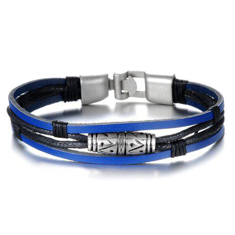 Classic Faux Leather Chain Bracelet For Men