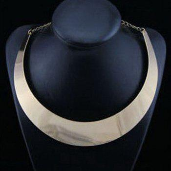 Simple Ringlike Pendant Alloy Necklace For Women