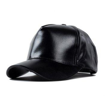 Chic Solid Color Women's PU Baseball Cap
