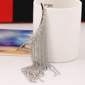 ONE PIECE Chain Fringed Earring - SILVER