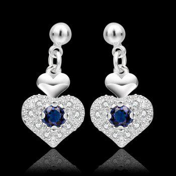 Rhinestone Embellished Heart Shape Earrings