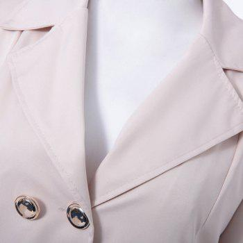 Fit and Flare Double Breasted Coat - APRICOT S