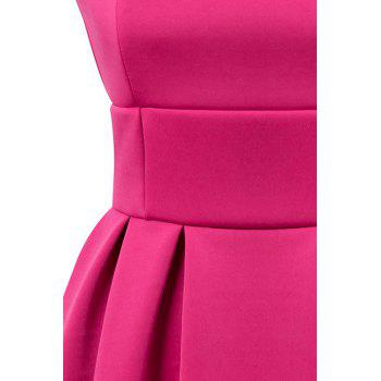 Simple Style Square Collar Sleeveless Solid Color A-Line Women's Dress - S S
