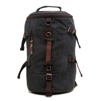 Fashionable Canvas and Buckles Design Backpack For Men