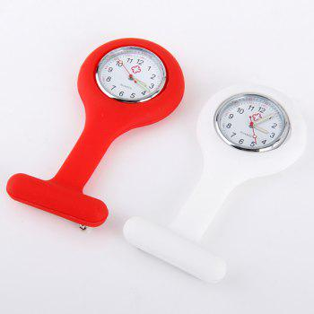 Nurse Pocket Watch with Rubber Body Quartz Movt for Hospital - WHITE