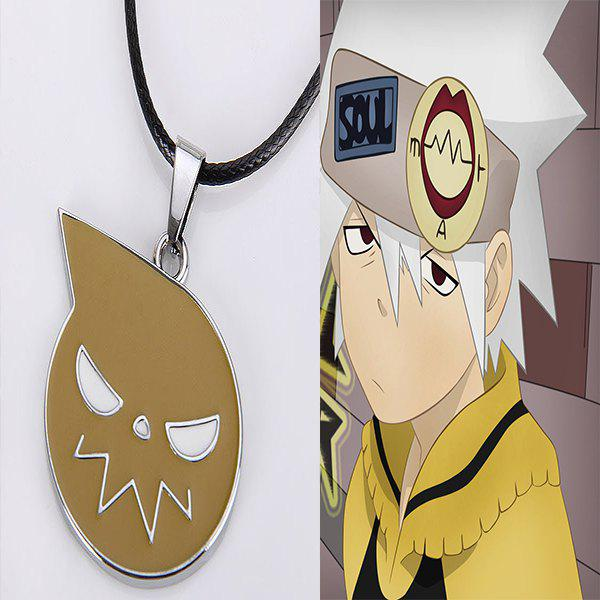 48cm Japanese Anime Soul Eater Logo Necklace - YELLOW